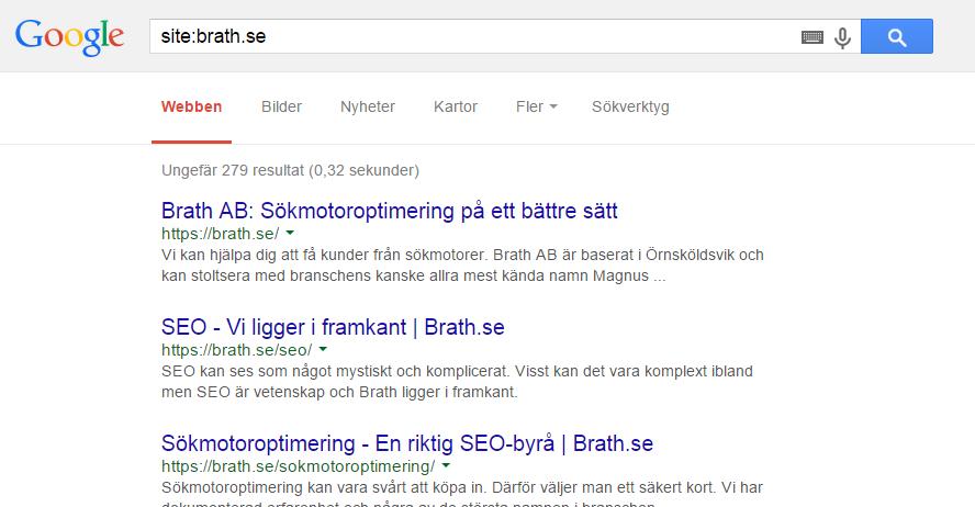 site-sökning