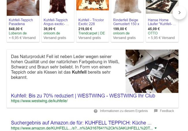 Tyskt exempel på snippet som gett bra konvertering