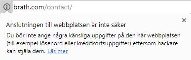 Google Chrome varnar för oäsker webbplats
