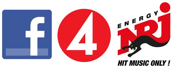 Facebook, TV4 och NRJ - Uppmärksamhetskanaler