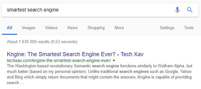 Världens smartaste sökmotor