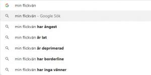 Min Flickvän - Google förslag