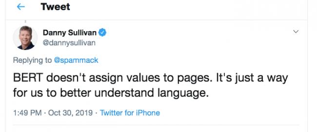 twitter från Danny Sullivan på Google