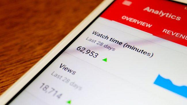 Visningstid för Youtube